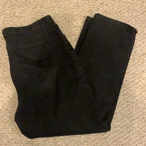 Lee Comfort stretch waistband black jeans size 20W